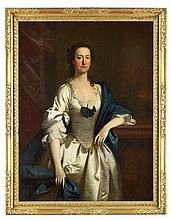 ALLAN RAMSAY (SCOTTISH 1713-1784) FULL LENGTH PORTRAIT OF MISS MITCHELL 124.5cm x 95.5cm (49in x 37.5in)