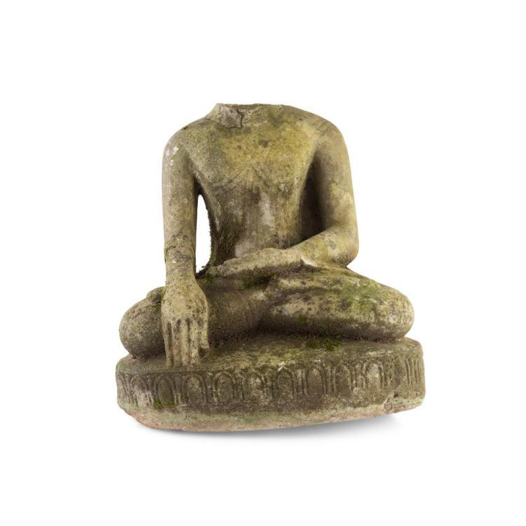 Carved stone buddha cm high