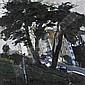 § ARCHIE FORREST R.G.I (SCOTTISH B.1950) LAFAYETTE PARK ON WASHINGTON, SAN FRANCISCO 51cm x 51cm (20in x 20in), Archie Forrest, Click for value