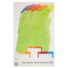 OLYMPIC GAMES, MUNICH FOUR SCREENPRINT 'ARTIST SERIES' POSTERS, 1971/2 105cm x 64cm approx.