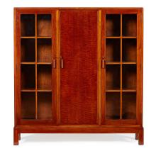 ENGLISH SCHOOL MAHOGANY BOOKCASE CABINET, CIRCA 1930 122cm wide, 131cm high, 30cm deep
