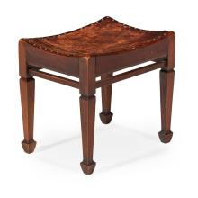 ATTRIBUTED TO ARTHUR W. SIMPSON OF KENDAL ARTS & CRAFTS OAK STOOL, EARLY 20TH CENTURY 41cm wide, 39cm high, 31cm deep