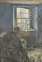 DAVID FOGGIE R.S.A., R.W.S. (1878-1948) THE COBBLER 55cm x 37cm (31.6in x 14.5in), David Foggie, Click for value