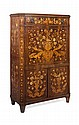 DUTCH WALNUT AND MARQUETRY FALL FRONT SECRETAIRE 19TH CENTURY 94cm wide, 150c, high, 43cm deep