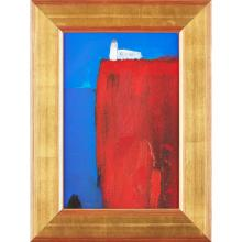 [§] ANDREW SQUIRE (SCOTTISH B.1954) LIGHTHOUSE 35cm x 23cm (13.75in x 9in)