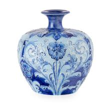 WILLIAM MOORCROFT (1872-1945) FOR J. MACINTYRE & CO. OVOID 'FLORIANWARE' VASE, CIRCA 1900 14cm high