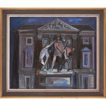 [§] HAMISH REID (SCOTTISH 1929-2005) MONUMENT 52.5cm x 75.5cm (20.75in x 29.5in)