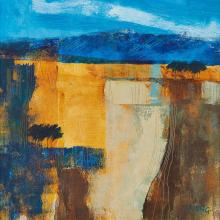 [§] GEORGIE YOUNG (SCOTTISH CONTEMPORARY) BLUE NOTE 2 - 2007 28.5cm x 28cm (11.25in x 11in)