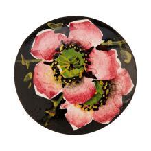 WEMYSS WARE CABBAGE ROSES HAT PIN, CIRCA 1900 4cm diameter