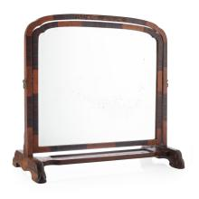 WHYTOCK & REID, EDINBURGH OAK, BURR WOOD AND MACASSAR EBONY TOILET MIRROR, CIRCA 1930 63cm wide, 62cm high