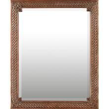 SCOTTISH CELTIC REVIVAL COPPER FRAMED WALL MIRROR, CIRCA 1920 51cm x 41.5cm