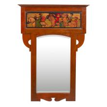 SHAPLAND & PETTER, BARNSTAPLE ARTS & CRAFTS OAK WALL MIRROR, CIRCA 1900 100cm x 72cm