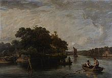 JAMES STARK (BRITISH 1794-1859) A VIEW ON THE YARE 80cm x 113.5cm (31.5in x 44.75in)