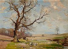 § WILLIAM MILLER FRAZER R.S.A. (SCOTTISH 1864-1961) GOGAR BURN, MIDLOTHIAN 25.5cm x 35.5cm (10in x 14in)