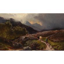 SIDNEY RICHARD PERCY (BRITISH 1821-1886) HOMEWARD BOUND