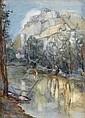 * § JESSIE KEPPIE (SCOTTISH 1868-1951) 'CHATEAU GAILLARD' 39 x 28cm (15 1/4 x 11in)