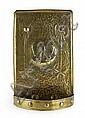 * GLASGOW SCHOOL BRASS WALL SCONCE, CIRCA 1910 38cm (15in) high