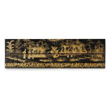 Lot 1: CANTON LACQUER LAP DESK QING DYNASTY, 19TH CENTURY 48.5cm wide