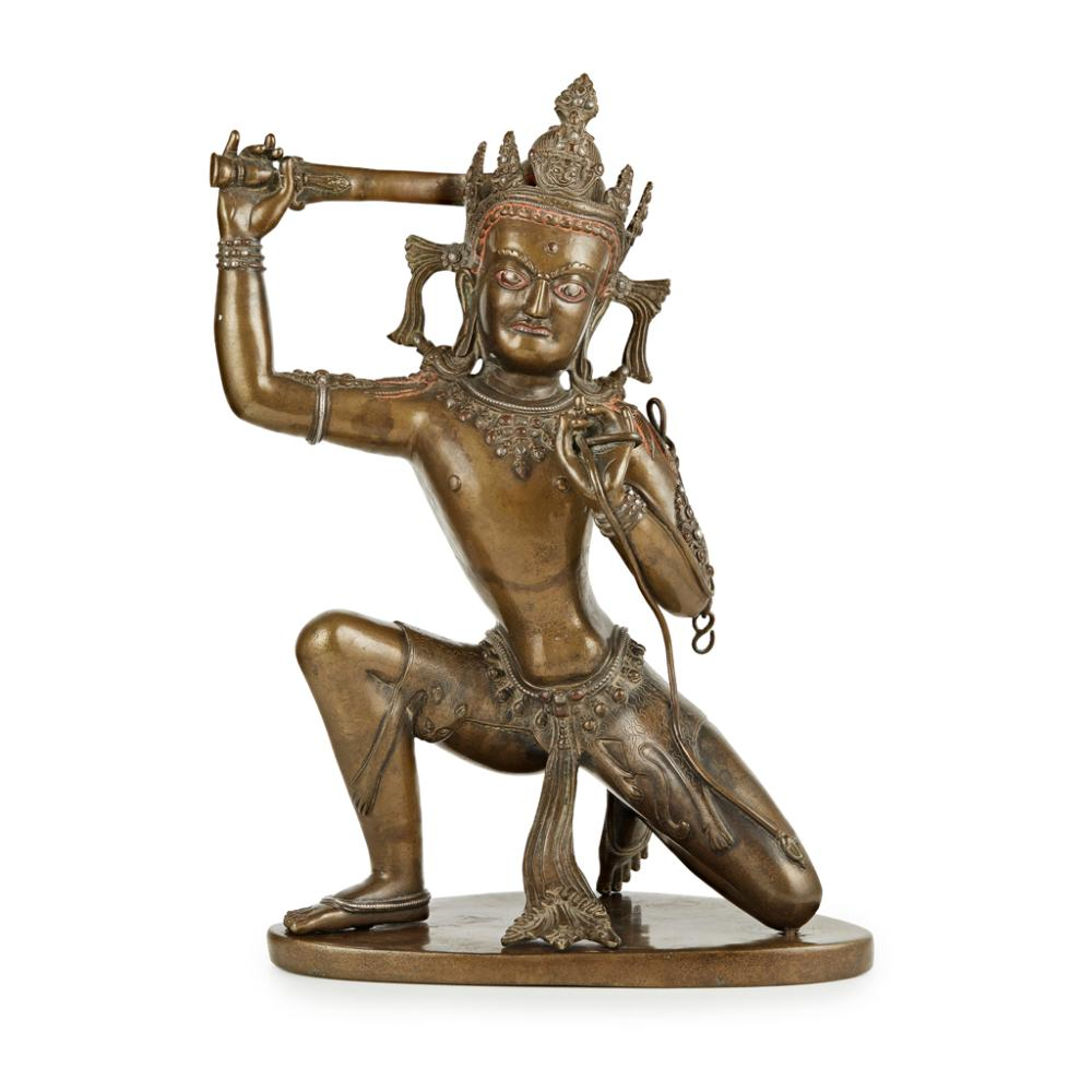 LARGE BRONZE FIGURE OF ACHALA 45cm high