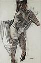 § ALEXANDRA GARDNER (SCOTTISH B. 1946) NUDE STUDY 93cm x 62cm (36.2in x 24.1in), Alexandra Gardner, Click for value
