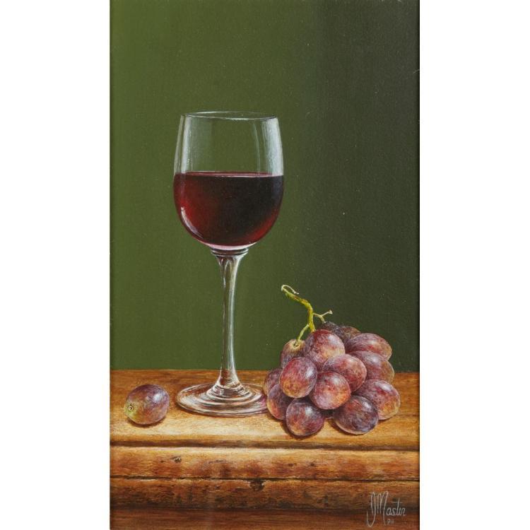 [§] IAN MASTIN (BRITISH CONTEMPORARY) FRUIT OF THE VINE 26cm x 15.5cm (10.25in x 6in)
