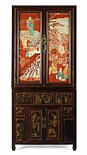 A RED LACQUER CABINET QING DYNASTY, 19TH CENTURY 77cm wide, 174cm high, 37cm deep