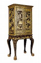A CHINESE EXPORT LACQUER CABINET ON STAND 19TH CENTURY 79cm wide, 168cm high, 42cm deep