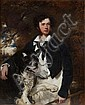 ATTRIBUTED TO SIR FRANCIS GRANT (1803-1878) PORTRAIT OF A GENTLEMAN WITH NEWFOUNDLAND DOG 127cm x 101.5cm (50in x 40in), Sir Francis Grant, Click for value
