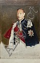 SIR GERALD FESTUS KELLY P.R.A. (BRITISH 1879-1972) SKETCH FOR THE STATE PORTRAIT OF KING GEORGE VI 1941 122cm x 91.5cm (48in x 36in), Sir Gerald Kelly, Click for value
