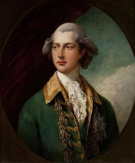 GAINSBOROUGH DUPONT (BRITISH 1754-1797) HALF LENGTH PORTRAIT OF HENRY FREDERICK, DUKE OF CUMBERLAND 75cm x 63cm (29.5in x 24.75in)