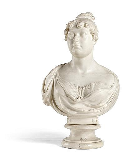 PETER TURNERELLI (IRISH 1774-1839) BUST OF PRINCESS CHARLOTTE 51cm (20.1in) high