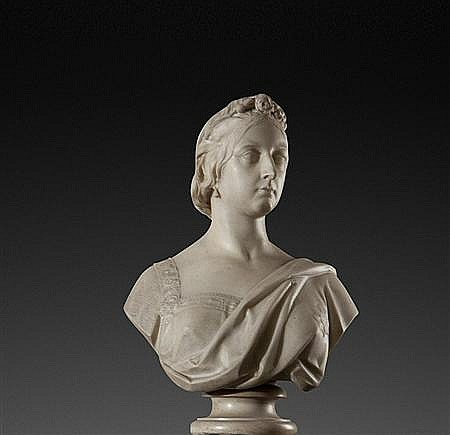 MATTHEW NOBLE (BRITISH, 1817-1876) QUEEN VICTORIA 69.5cm (27.4in) high