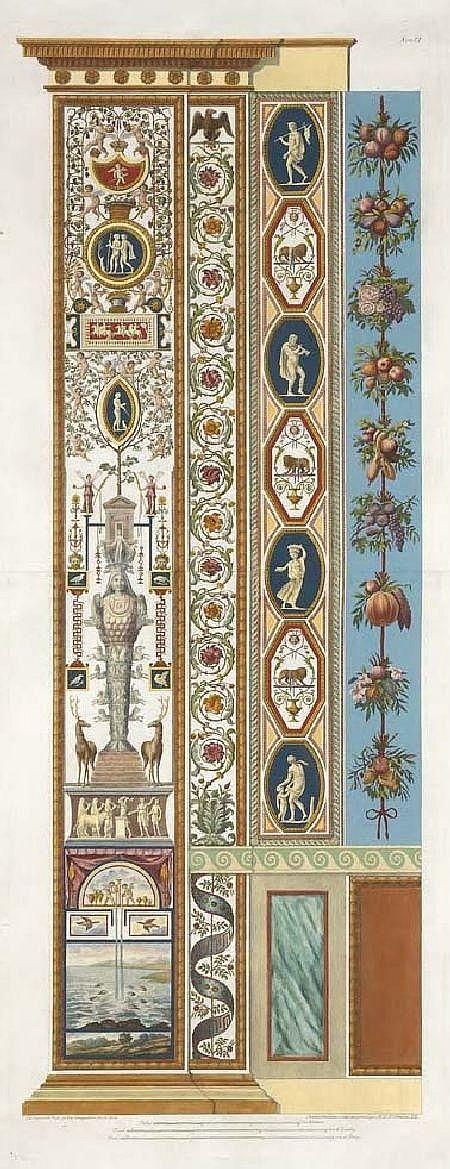 GIOVANNI OTTAVIANI (CIRCA 1735-1808) LOGGIE DI RAFAELE NEL VATICANO 107cm x 40cm