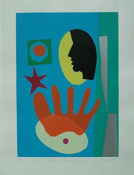 ADRIAN WISZNIEWSKI (SCOTTISH B.1958) PRIVATE ISLAND - MARLON BRANDO 59cm x 42cm (23.25in x 16.5in)