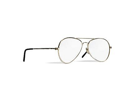§ FIONA BANNER (BRITISH, B. 1966) INSIDE OUT AVIATOR GLASSES, 1994 13cm x 5cm (5in x 2in)