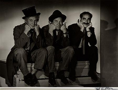 TED ALLAN (AMERICAN, 1910-1993) MARX BROTHERS (HAROP, CHICO AND GROUCHO), MGM, 1935 25cm x 34cm (9.75in x 13.5in)