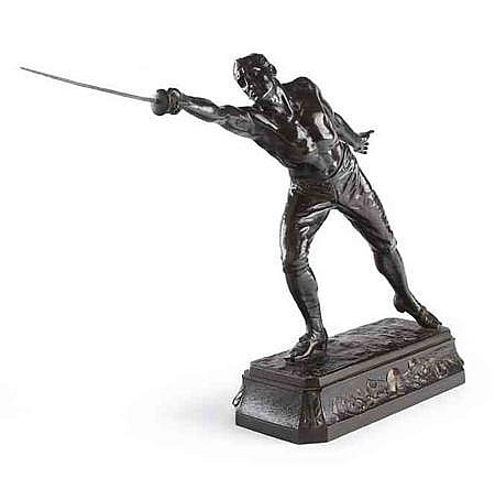 RUDOLF KUCHLER (AUSTRIAN, B.1867) MALE FENCER 38cm high