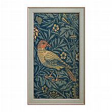 WILLIAM MORRIS (1834-1896) FOR MORRIS & CO. 'BIRD' PANEL, CIRCA 1880 47cm x 28cm