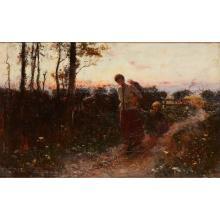 THOMAS AUSTEN BROWN (BRITISH 1859-1924) HOMEWARD BOUND