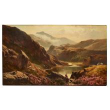 SIDNEY RICHARD PERCY (BRITISH 1821-1886) ABOVE THE LAKE, NORTH WALES