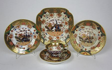 SPODE COPELAND IMARI PATTERN PART TEA SERVICE