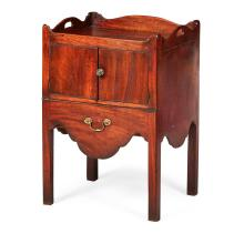 GEORGE III MAHOGANY COMMODE BEDSIDE CABINET LATE 18TH CENTURY 53cm wide, 76cm high, 46.5cm deep