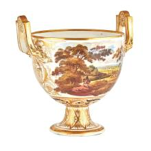 LARGE DERBY PORCELAIN URN EARLY 19TH CENTURY 27.5cm high, 27.5cm wide