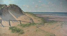 ARNOLD PRIESTMAN (BRITISH, 1854-1925) SEA VIEW 45.5cm x 86cm (18in x 34in)