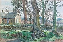 § JAMES MCINTOSH PATRICK R.S.A., R.O.I., R.G.I. (SCOTTISH 1907-1998) AT WESTERLEYS 36cm x 53cm (14in x 21in)