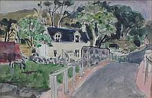 § DAVID MCCLURE R.S.A., R.S.W. (SCOTTISH 1926-1998) THE WHITE HOUSE, DERVAIG, MULL 16cm x 24cm (6.25in x 9.5in)