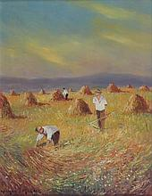 § NORMAN J. MCCAIG (IRISH 1929-2001) HARVEST TIME 46cm x 36cm (18in x 14in)