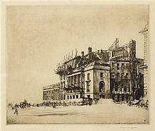 § SIR MUIRHEAD BONE H.R.S.A., R.E. (SCOTTISH 1876-1953) WATERLOO PLACE 1916 24cm x 29cm (9.5in x 11.5in) (plate size)