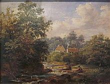MACNEIL MCLEAY A.R.S.A. (SCOTTISH 1802-1878) FARM HOUSE AT COLINTON 16cm x 20cm (6in x 8in)
