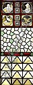 AFTER JOHN MOYR SMITH FOUR PAINTED STAINED AND LEADED GLASS PANELS, CIRCA 1880 112.5cm x 45.5cm, John Guthrie Spence Smith, Click for value
